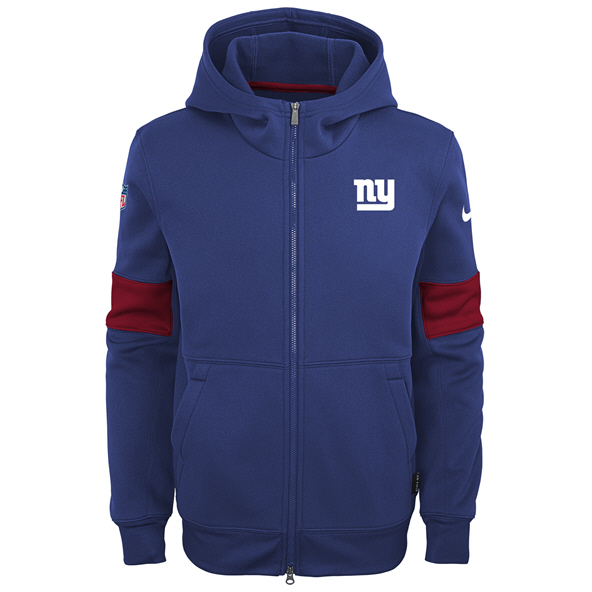 Nike Giants 19 Therma Kid FZ Hoody Blue