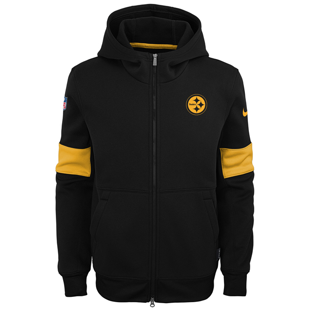 low priced 54907 daae7 Nike Steeler 19 Therma Kid FZ Hoody Blk