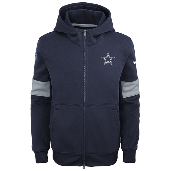 Nike Cowboys 19 Therma Kid FZ Hoody Navy