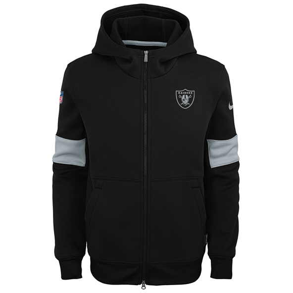 Nike Raiders 19 Therma Kid FZ Hoody Blk