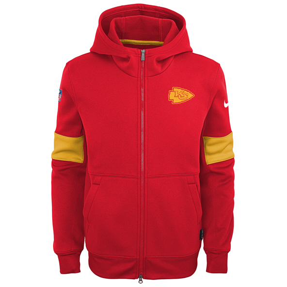 Nike Chiefs 19 Therma Kid FZ Hoody Red