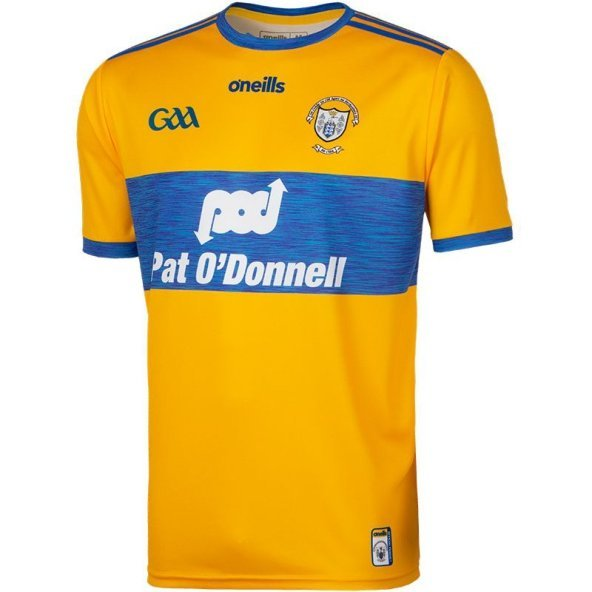 O'Neills Clare 2019 Player Fit Home Jersey, Yellow