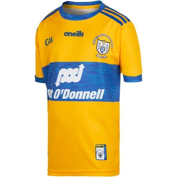 O'Neills Clare 2019 Kids' Home Jersey, Yellow