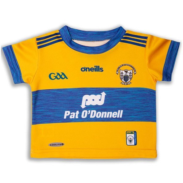 O'Neills Clare 2019 Junior Home Jersey, Yellow