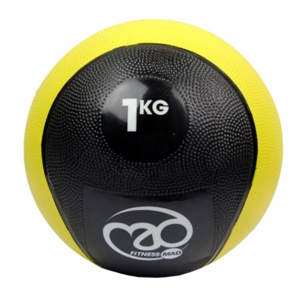 Fitness Mad 1Kg PVC Medicine Ball Yellow