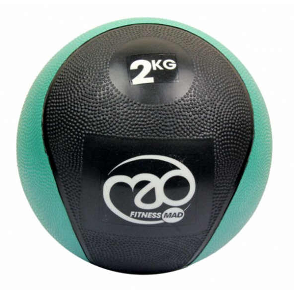 Fitness Mad 2kg PVC Medicine Ball Green