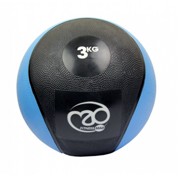 Fitness Mad 3Kg PVC Medicine Ball Blue