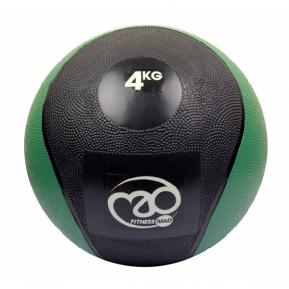 Fitness Mad 4kg PVC Medicine Ball Green