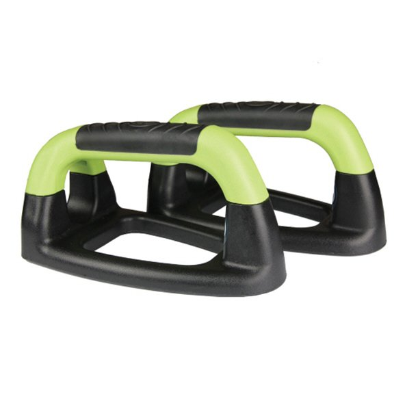 Fitness Mad Push Up Stands Iron Black/Green