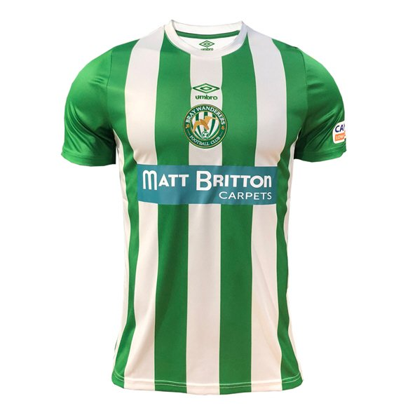 Umbro Bray Wanderers 2019 Kids' Home Jersey, Green