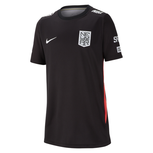 Nike Neymar Dry Boys Top Black/Crimson