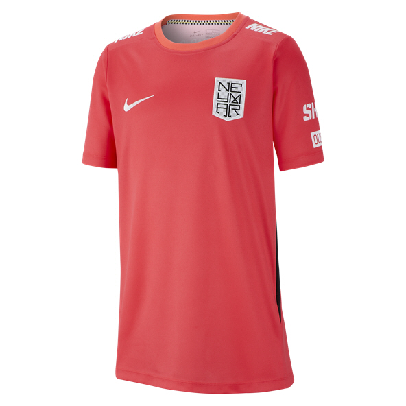 Nike Neymar Dry Boys Top Crimson/Black