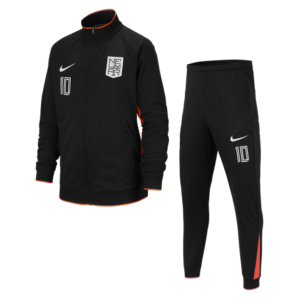 Nike Neymar Dry Boys TSuit Blk/Crims