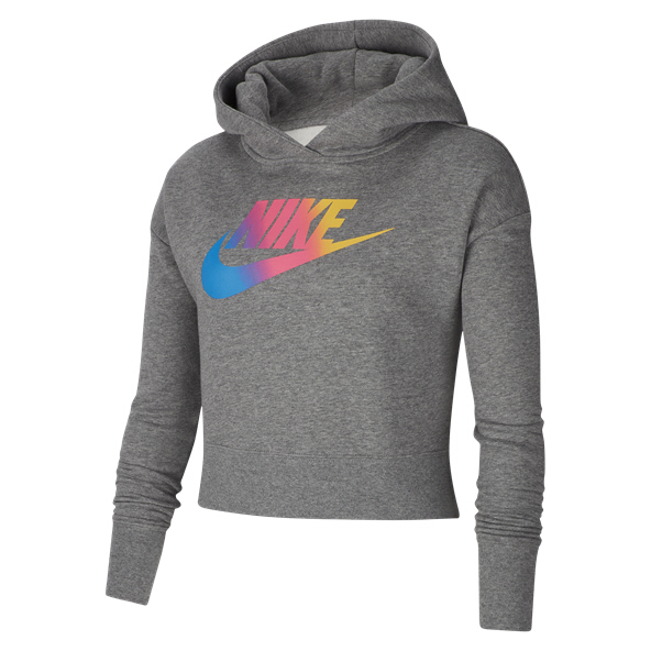 Nike Swoosh Girls OH Hoody Carbon/Htr
