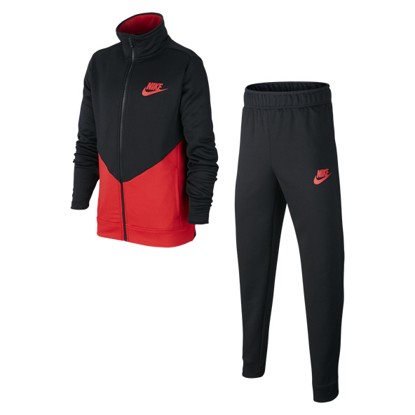 Nike Swoosh Futura Boys' Tracksuit Black/Red