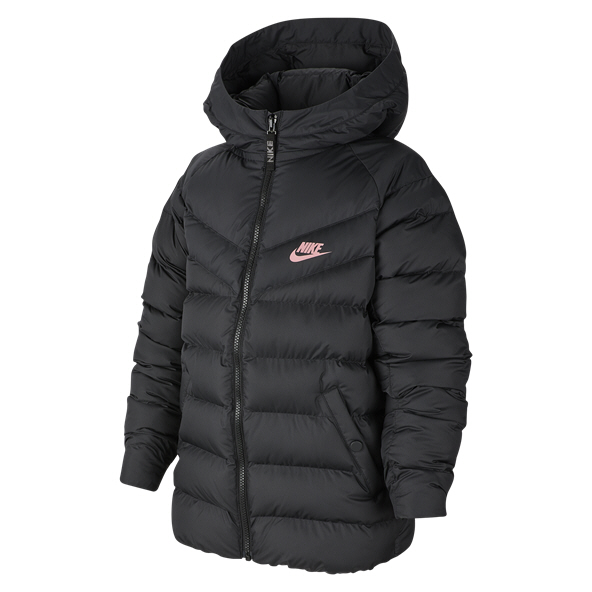 Nike Swoosh Filled Girls' FZ Jacket, Black