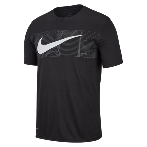 Nike Swoosh Dry Men's T-Shirt Black/White