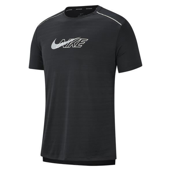 Nike Dry Miler Men's Running T-Shirt, Black