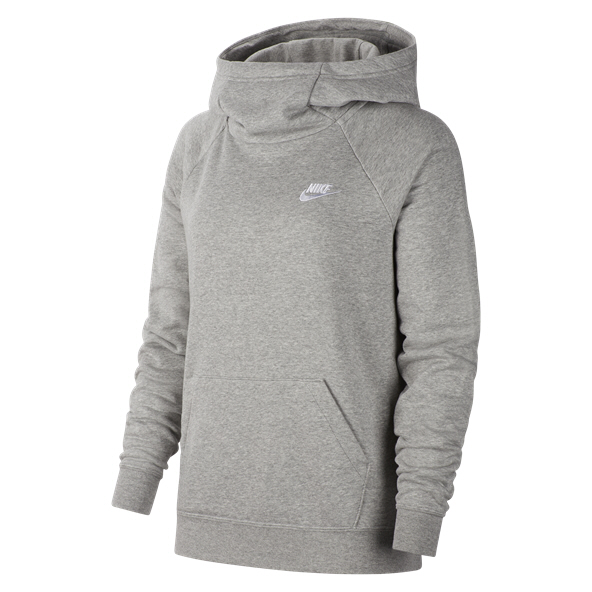 Nike Swoosh Essential Women's Fleece Hoody, Grey