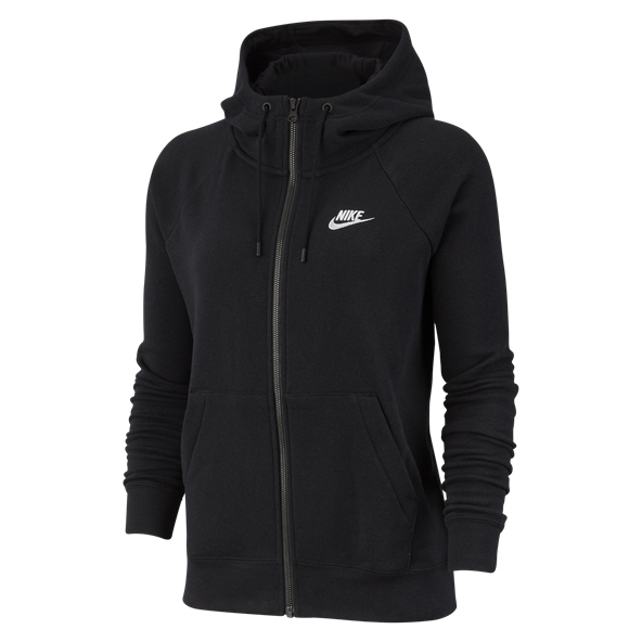 Nike Swoosh Essential Full Zip Women's Hoody Black