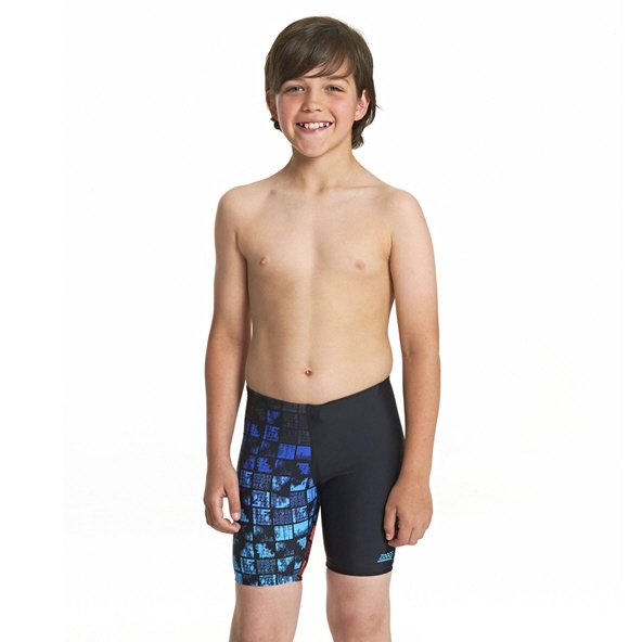 Zoggs Rascal Mid Boys Jammer Shorts Black/Multi