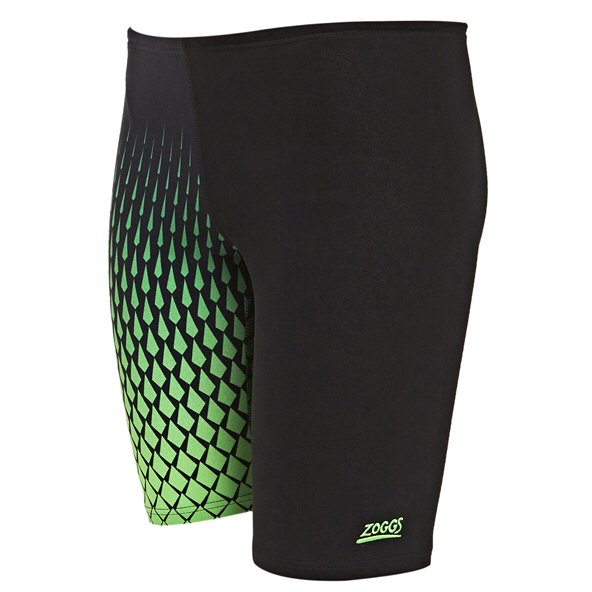 Zoggs Summit Boys Jammer Swim Short  Black/Green