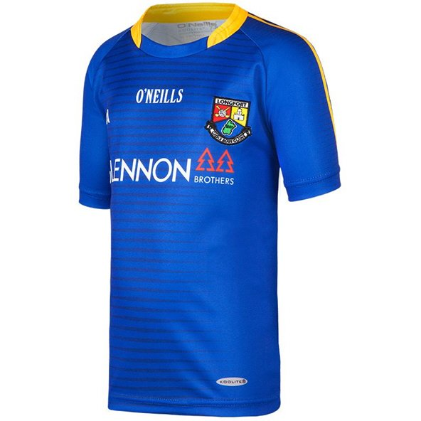 O'Neills Longford 2017 Kids' Home Jersey, Blue