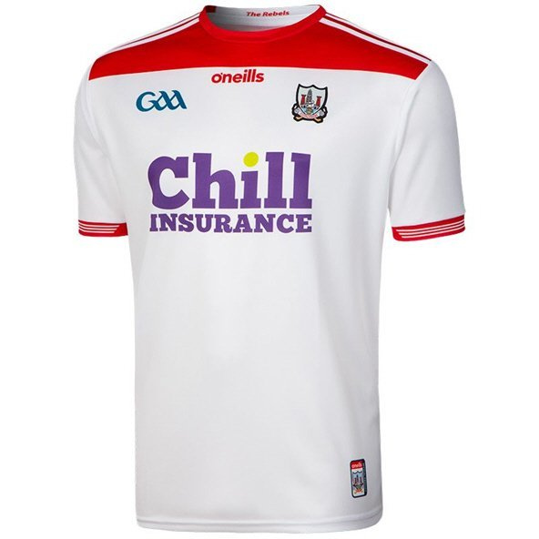 O'Neills Cork 2019 Player Fit Away Jersey, White