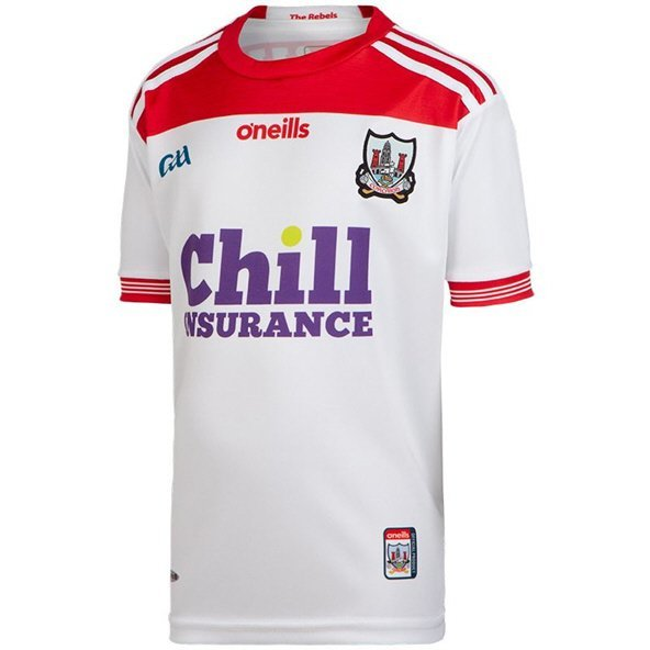 O'Neills Cork 2019 Kids' Away Jersey, White