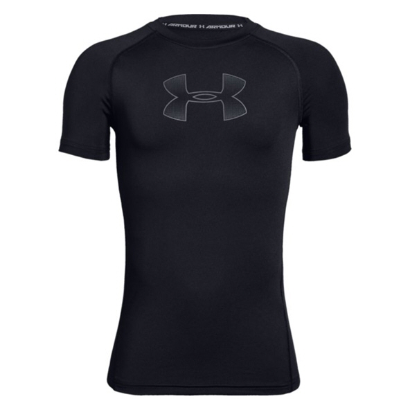 Under Armour® Heatgear Kids' T-Shirt Black/Grey