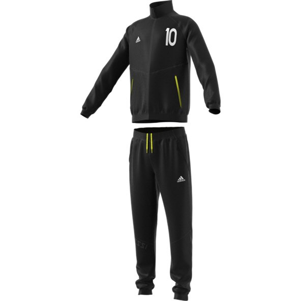 adidas Messi Boys' Tracksuit, Black/Yellow