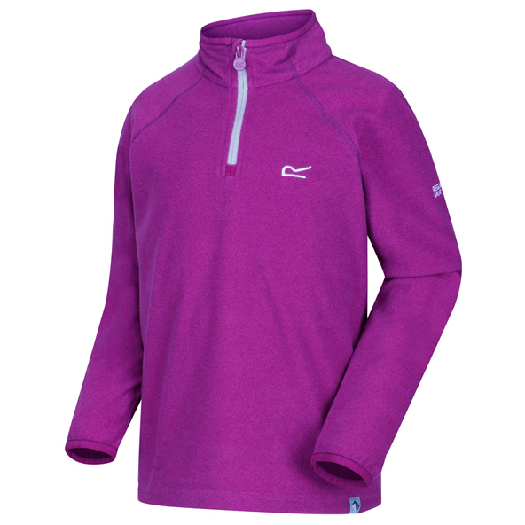 Regatta Loco ¼ Zip Girls' Fleece Jacket, Purple