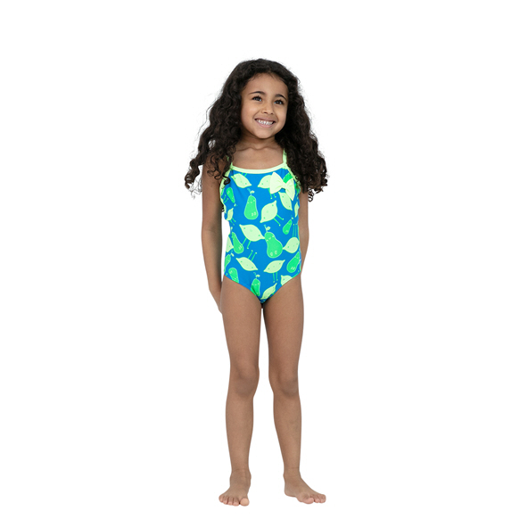 Speedo Bow Tot Swimsuit Blue/Green