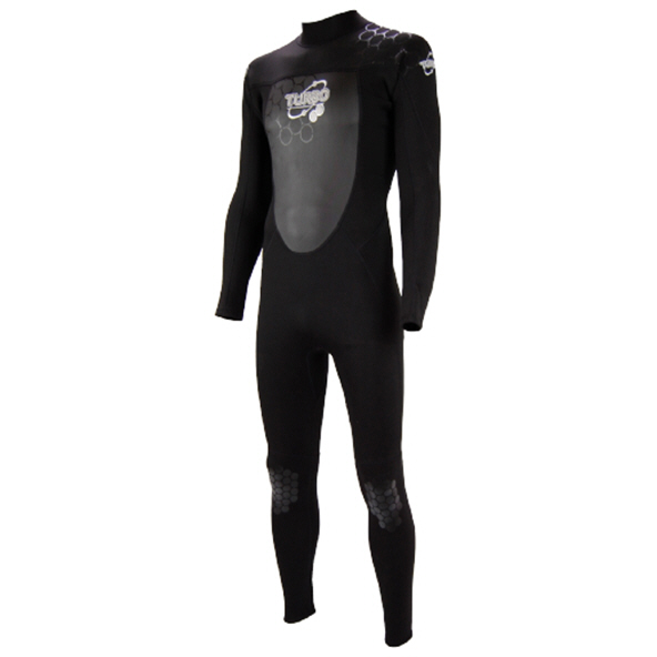 TWF Turbo 2.5mm Mens Full Wetsuit Black