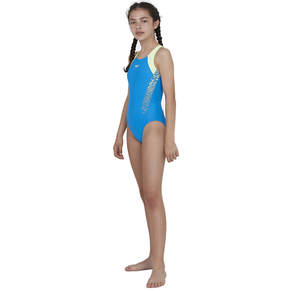 Speedo Boom Muscleback Girls' Swimsuit, Blue