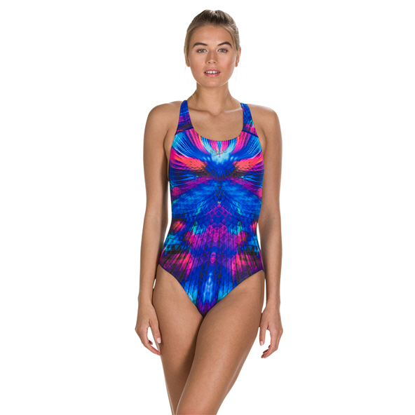 Speedo MirageShine Powerback Swimsuit, Blue