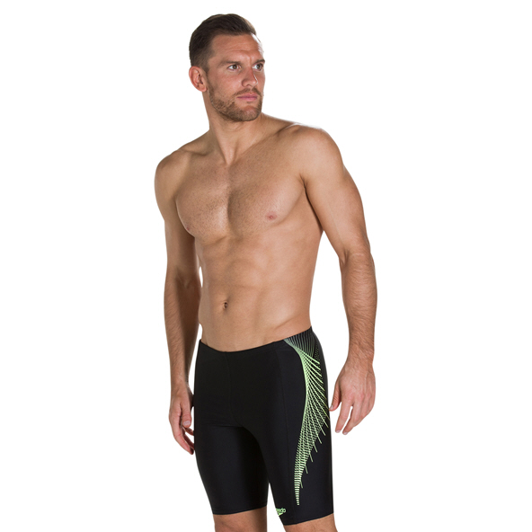 Speedo Placement Jammer Mens Shorts Blk