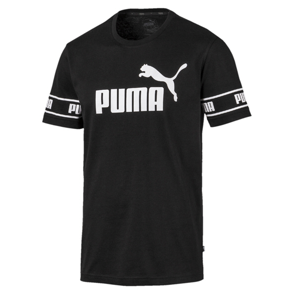 Puma Amplified Big Logo Tee Mens Black