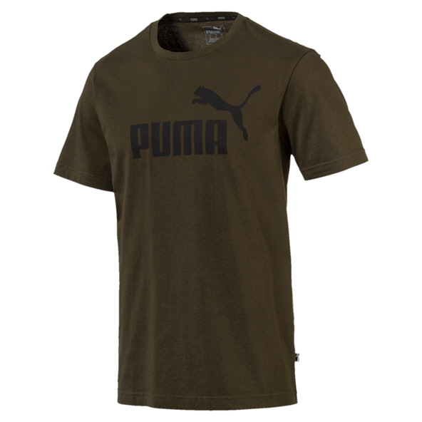 Puma ESS Logo Men's T-Shirt, Forest Night