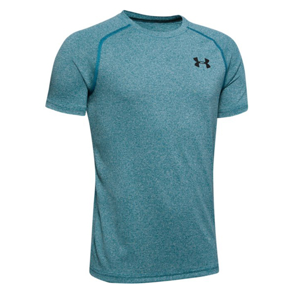 UA Tech Boys T-Shirt Teal/Black