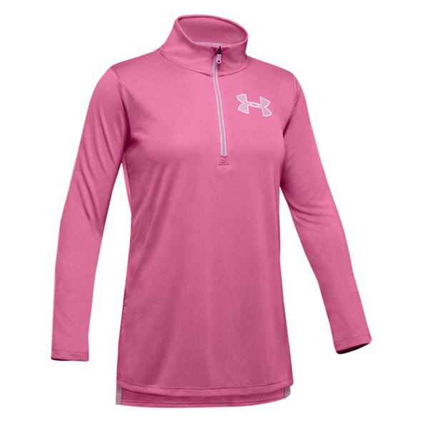UA Tech Half Zip Girls' Top Pink