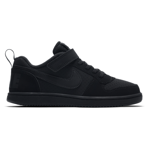 Nike Court Borough Low Junior Boys' Trainer, Black