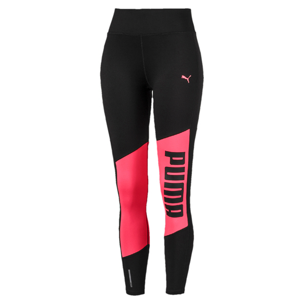 Puma Logo 7/8 Graphic Women's Tight Black/Pink