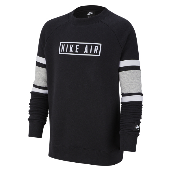 Nike Air LS Crew Boys Black/Grey