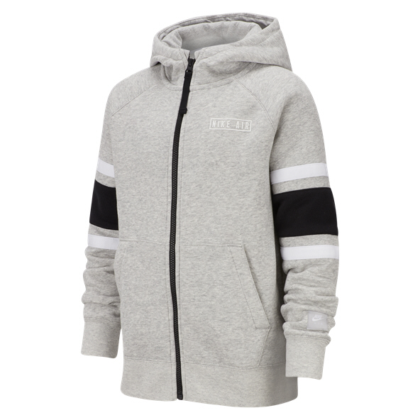 Nike Air Boys Hoodie Grey/Black/White