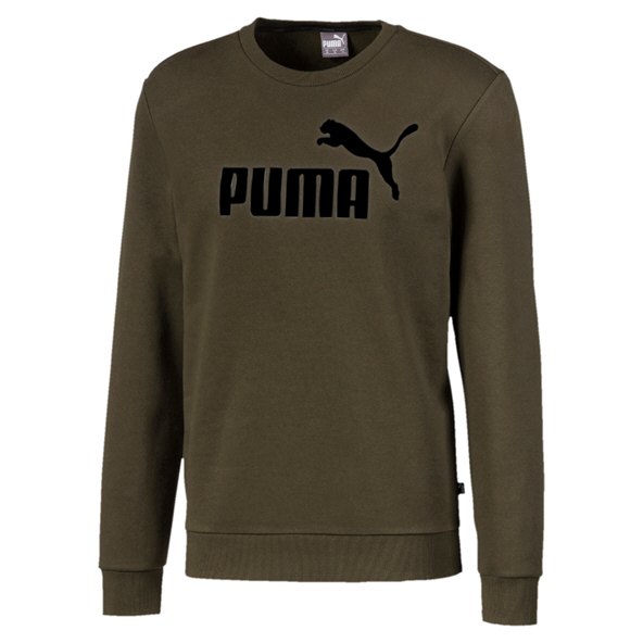 Puma ESS Logo Boys Crew Sweat Forest Ngt