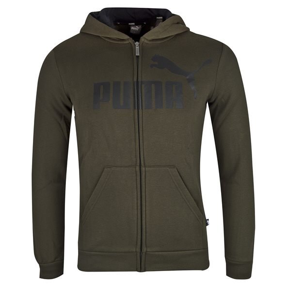 Puma ESS Logo Boys' Hoody, Forest Night