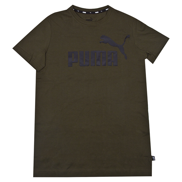 Puma ESS Logo Boys Tee Forest Night