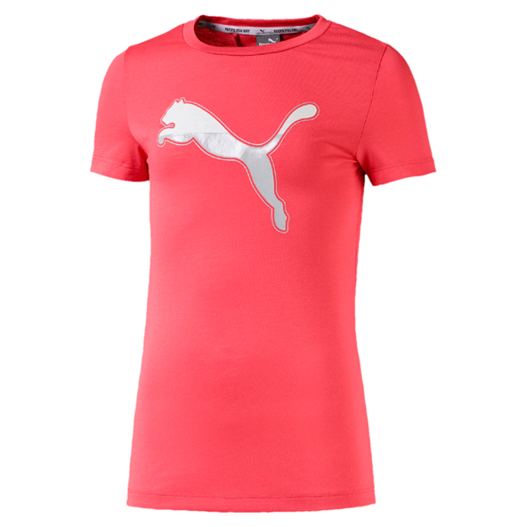 Puma Active Sports Girls Tee Coral
