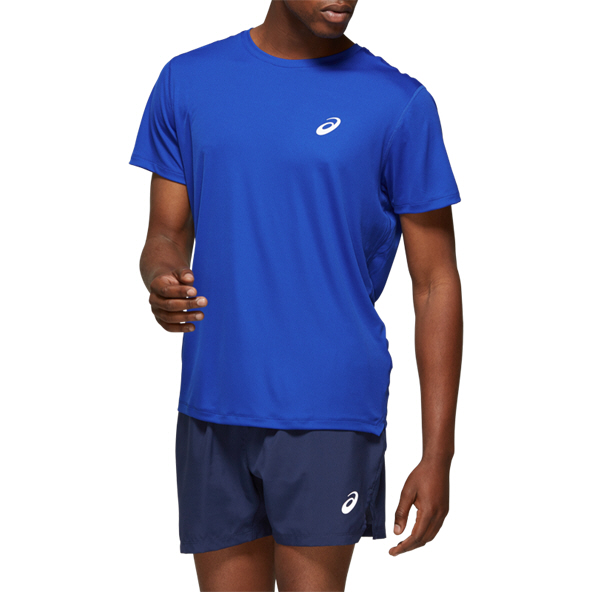Asics Silver SS Men's Top Blue